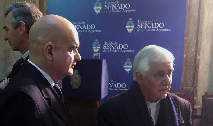 """Participación en el evento """"Mención de Honor Senador Domingo Faustino Sarmiento"""" a la encíclica del Papa Francisco «Laudato Si»"""